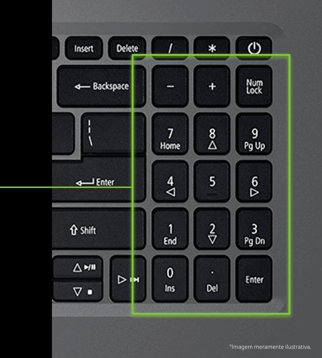 Teclado numérico do Notebook Acer A315-23G-R24V
