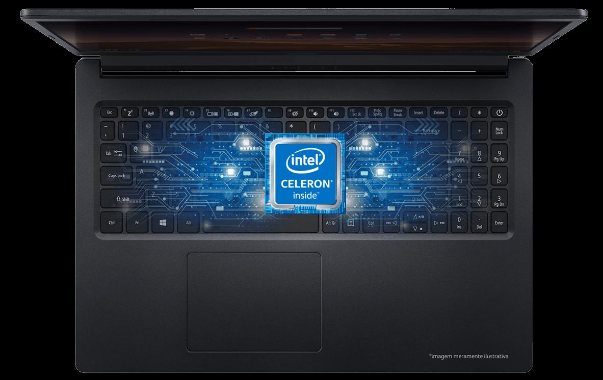 Notebook Acer e selo Celeron