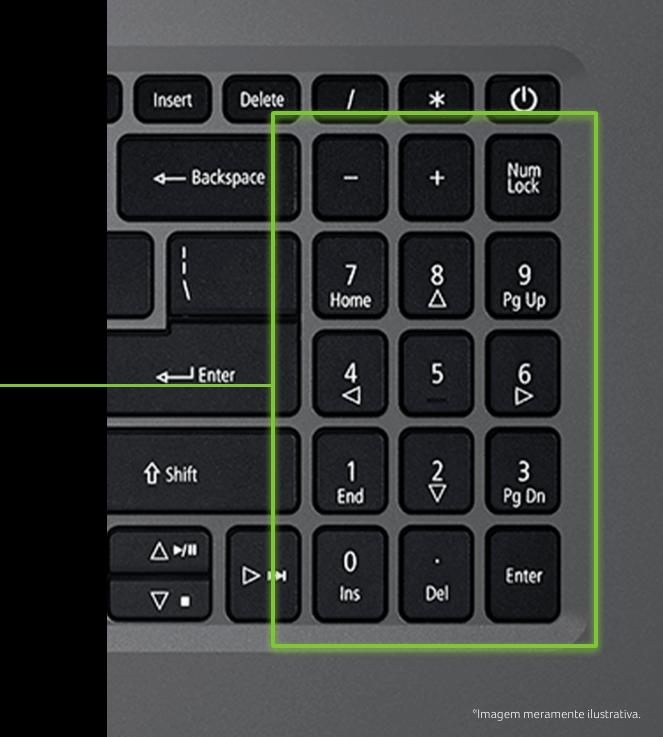 Teclado numérico do Notebook Acer A315-34-C6ZS