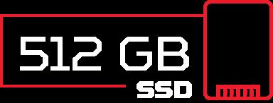 Ícone SSD de 512 GB