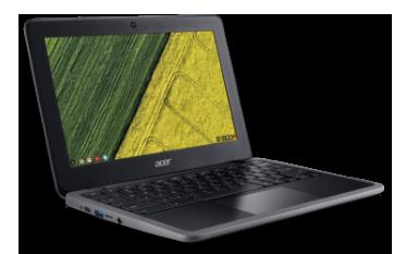Acer Chromebook visão transversal