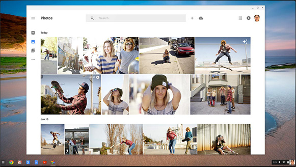 Acer Chromebook C733T-C2HY - Tela do Google Fotos