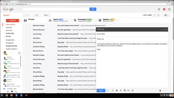 Acer Chromebook C733T-C2HY - Tela do Gmail