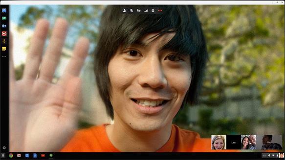 Acer Chromebook C733T-C2HY - Tela do Hangouts