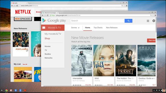 Acer Chromebook C733T-C2HY - Tela do Google Play Filmes